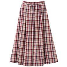 【ぽっちゃりさんサイズ】ストレッチガーゼスカート