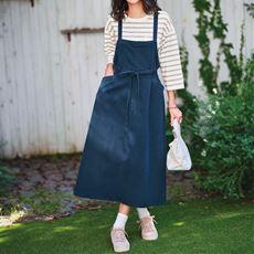 【ぽっちゃりさんサイズ】Moz デニムジャンパースカート