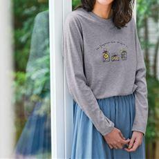 【ぽっちゃりさんサイズ】クルーネックTシャツ(長袖)