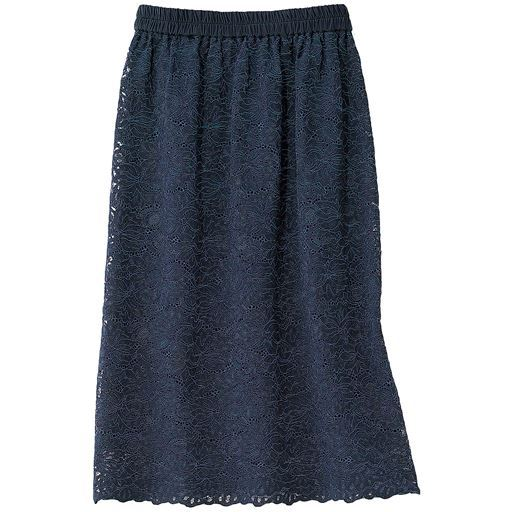 【ぽっちゃりさんサイズ】レースタイトスカート