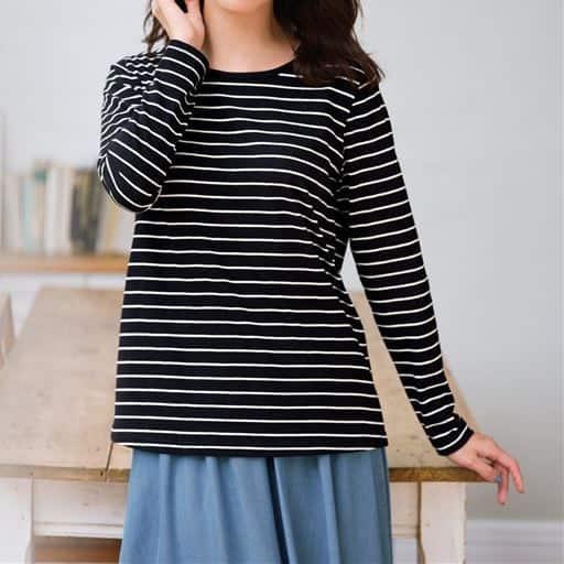 シンプルTシャツ(長袖・綿100%)