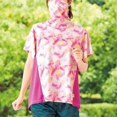 HEAD パッカブルハイネックTシャツ(スポーツ)(吸汗速乾・UVカット)(長め衿でフェイスガードにも)