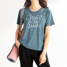 後タックTシャツ(BODY GLOVE)(吸汗速乾・UVカット)(ヨガ)