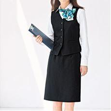 オフィスベストスカートスーツ(洗濯機OK、静電防止)(事務服)