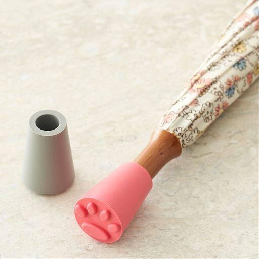 傘キャップ(猫肉球デザイン)/滑り止めキャップ シリコン製