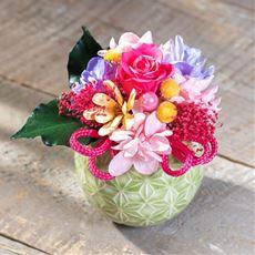 【母の日】プリザーブドフラワー「花てまり」
