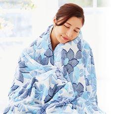 色違い2色組 花柄ケット/四季おりおり使える(毛布の手触り)