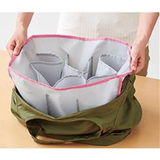 エコバッグのバッグイン2個/レジかご袋 仕分け収納