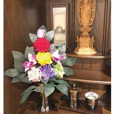 CT触媒加工仏花「花藤」/プリザードフラワー・造花を合わせた仏花