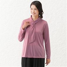衿デザインプルオーバー/ボウタイ風デザイン