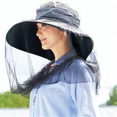 アルミ虫よけガーデニング帽子(UVカット)