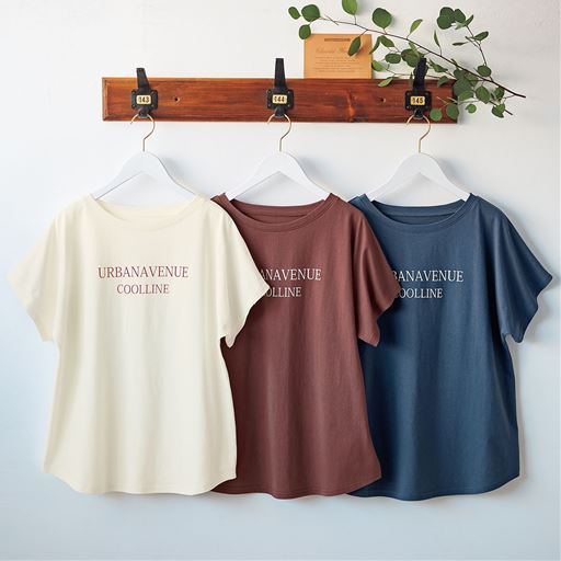 プチボートネックゆるTシャツ(綿100%)