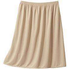 スカートに合わせて丈が選べる人気のペチコート(吸汗速乾・静電気防止)