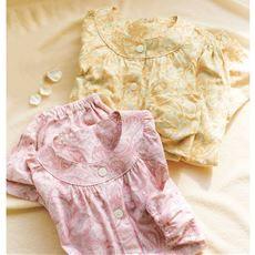 薄手SZ天竺の前開きパジャマ(綿100%・日本製)(洗濯に強い)
