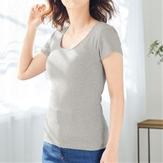 カップ付きフレンチ袖(立体カップで胸すっきり綺麗)