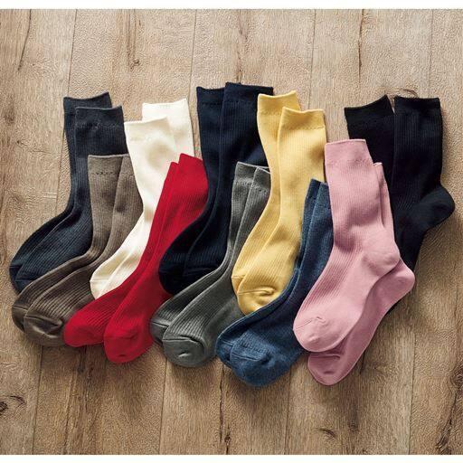ファミリーソックス・同色3足組(家族ではける定番靴下 21cm~27cm)(クルー丈)