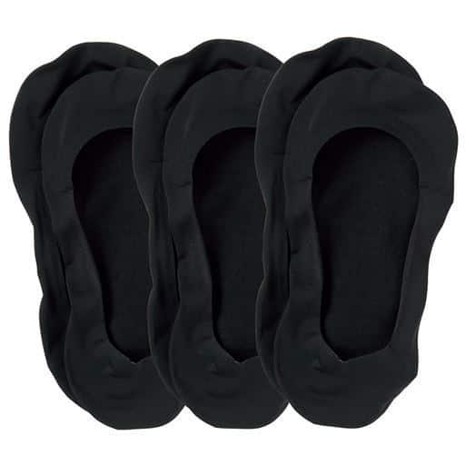 ココピタ™脱げにくいフットカバー・同色3足組(浅履きタイプ)