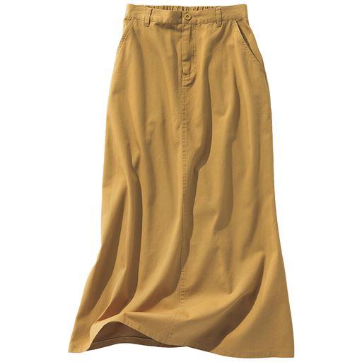 チノフレアロングスカート(綿100%・洗濯機OK)