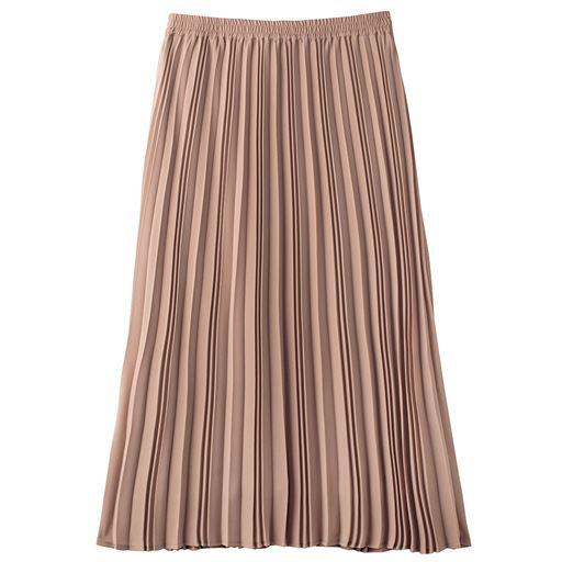 プリーツスカート(洗濯機OK)/カジュアルさを控えめにした丈感(洗濯機OK)