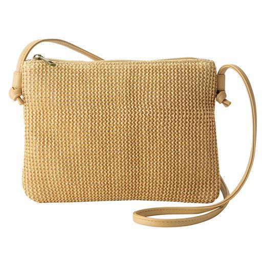 夏素材バッグ(ミニショルダーバッグ付き/サコッシュ)