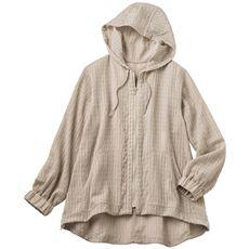 シアーパーカージャケット(手洗いOK・袖口ゴム)