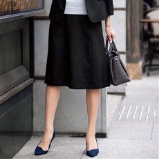 台形スカート(CoolBestⅡ・事務服・選べる2レングス・接触冷感・吸汗速乾・洗濯機OK)