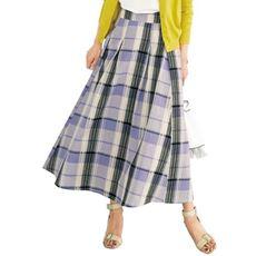 チェックフレアスカート(洗濯機OK)