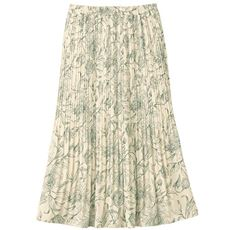 花柄プリントプリーツスカート(手洗いOK)
