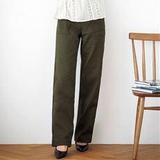 二重織りガーゼベイカーパンツ(洗濯機OK・大きいサイズ)