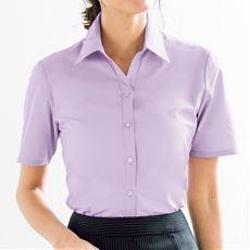 形態安定ベルカラーシャツ(半袖)(UVカット・抗菌防臭・洗濯機OK・部屋干しOK)
