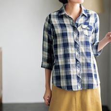 ダブルガーゼ レギュラーシャツ(綿100%・洗濯機OK)