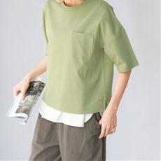 クルーネックTシャツ(綿100%・洗濯機OK)