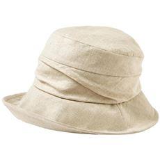 UVつば広ギャザークロッシェハット(UV・接触冷感・吸汗速乾・消臭)(帽子)