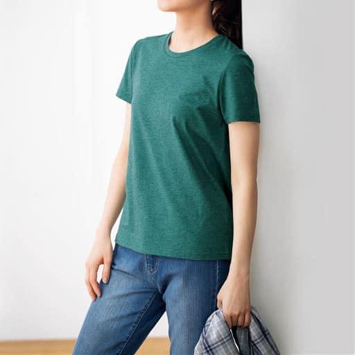 シンプルクルーネックTシャツ(半袖)(S~6L・洗濯機OK)