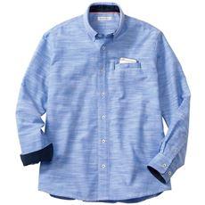 綿100%スマホ対応ポケット付きシャツ(長袖)
