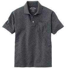 綿100%ポロシャツ(半袖)しっかり編地の鹿の子素材を使用