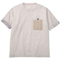ドライ・異素材切替デザインTシャツ