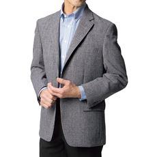 身幅ゆったり 袖丈ぴったりの洗えるグレンチェック柄ジャケット