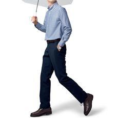 雨の日の通勤も安心 はっ水機能付きウォッシャブルスラックス(ノータック)メンズビジネス
