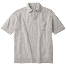 ニットスキッパーポロシャツ (おうちで洗えて、早く乾く!)
