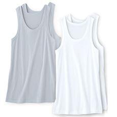 2枚組 男の消臭・抗菌 ランニングシャツ/綿100%