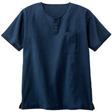 楊柳ヘンリーネックシャツ