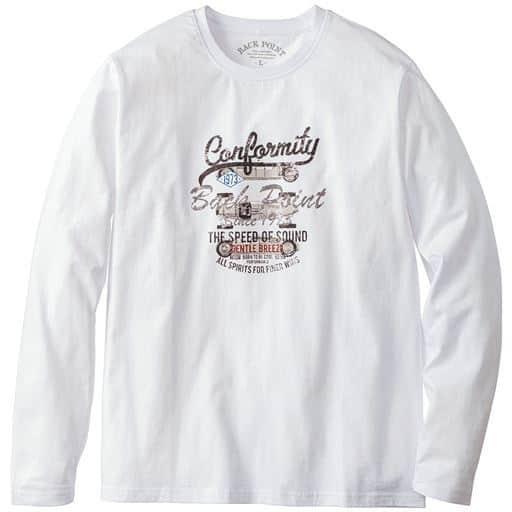 綿100%プリントTシャツ(長袖)