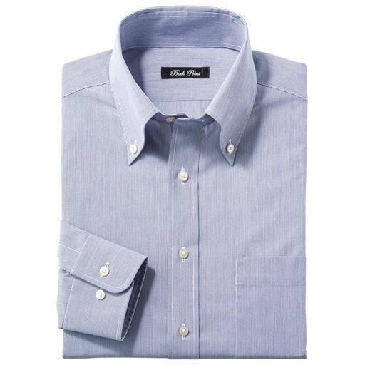 形態安定ボタンダウンYシャツ(RENU)