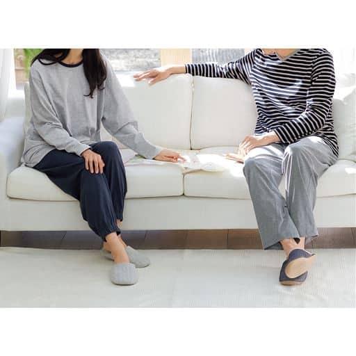 綿100%・4点セットパジャマ(男女兼用)(長袖&長パンツ2セット)