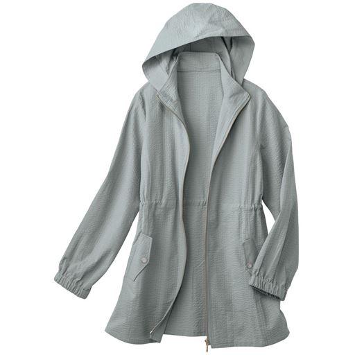 フード付きジップアップジャケット(UVカット・洗濯機OK・袖口ゴム)