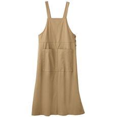 ツイルジャンパースカート(洗濯機OK・大きめポケット)