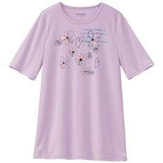 【ぽっちゃりさんサイズ】プリントチュニック丈Tシャツ(ケイパ)(UVカット・吸汗速乾)