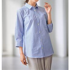 【ぽっちゃりさんサイズ】形態安定レギュラーカラーシャツ(7分袖)(UVカット・抗菌防臭)グラマーさん用サイズ有(胸サイズで選ぶ)