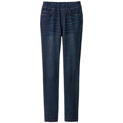 【ぽっちゃりさんサイズ】ニットデニムスキニーパンツ(スマートニットジーンズ)(美脚パンツ)